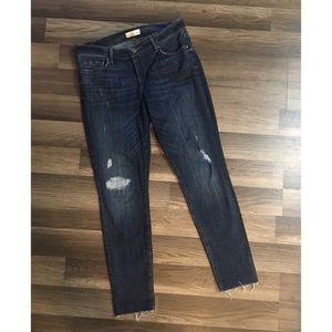 LOFT Jeans - Loft size 8 curvy skinny jeans with raw hem